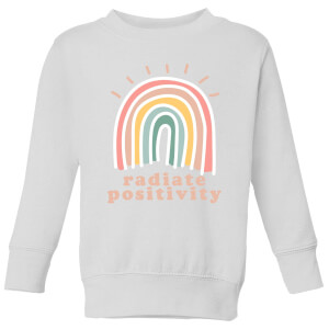 Radiate Positivity Kids' Sweatshirt - White