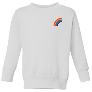 Half Rainbow Kids' Sweatshirt - White