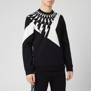 Neil Barrett Men's Cut and Sew Sweatshirt - Black/White
