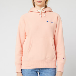 Champion Women's Small Script Hooded Sweatshirt - Pink