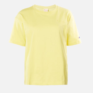 Champion Women's Oversized Crew Neck T-Shirt - Yellow