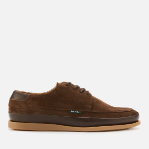 PS Paul Smith Men's Broc Suede Casual Shoes - Chocolate