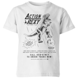 How Ridiculous Action Rexy Kids' T-Shirt - White