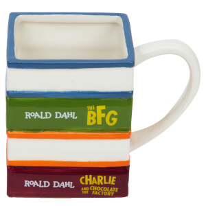 Roald Dahl Pile of Books Ceramic Mug