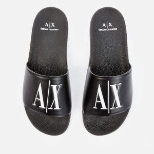 Armani Exchange Men's Slide Sandals - Black