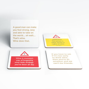 Never To Early For Wine Coaster Set