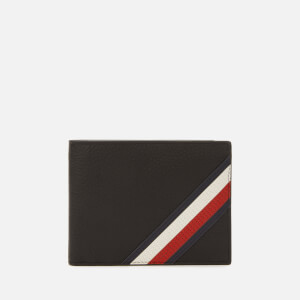 Tommy Hilfiger Men's Downtown Flap and Coin Wallet - Black