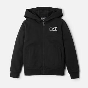 Emporio Armani EA7 Boy's Full Zip Hoody - Black