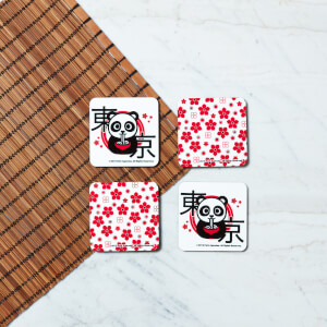 Ramen Panda Square Coaster Set