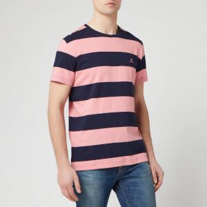 GANT Men's Barstripe Short Sleeve T-Shirt - Strawberry Pink