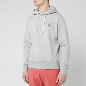 GANT Men's Medium Shield Hoody - Light Grey Melange