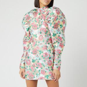 ROTATE Birger Christensen Women's Kim Jacquard Mini Dress - Morning Glory