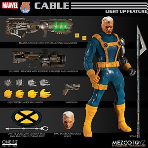 Mezco One:12 Collective Marvel X-Men Cable 1990s Costume Figure - Previews Exclusive