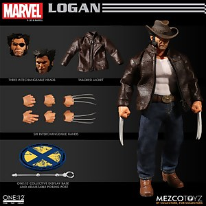 Mezco One:12 Collective Marvel X-Men Wolverine Logan Action Figure