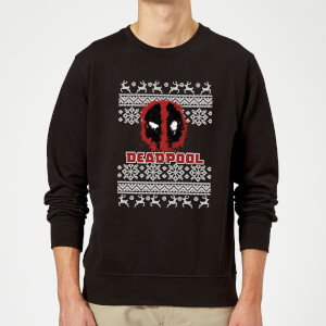 Deadpool Christmas Sweater - Black
