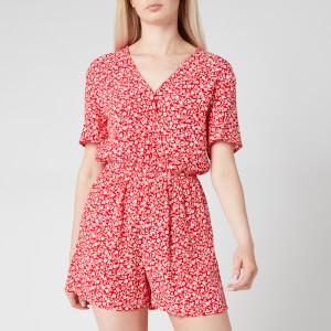 Tommy Jeans Women's TJW Floral Playsuit - Floral Print/Deep Crimson