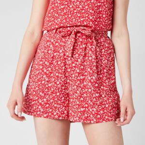 Tommy Jeans Women's TJW Floral Shorts - Floral Print/Deep Crimson