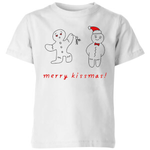 Merry Kissmas Kids' T-Shirt - White