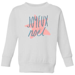 Joyeux Noel Kids' Sweatshirt - White