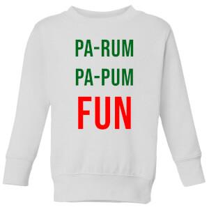 Pa-Rum Pa-Pum Fun Kids' Sweatshirt - White