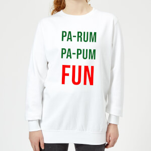 Pa-Rum Pa-Pum Fun Women's Sweatshirt - White