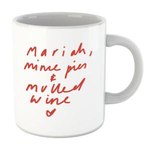 Mariah, Mince Pies & Mulled Wine Mug