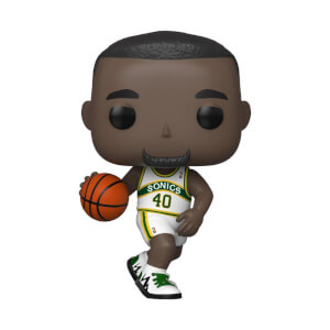 NBA Legends Shawn Kemp Sonics Home Jersey Pop! Vinyl Figure