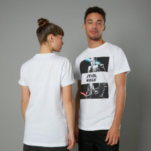 The Rise of Skywalker Rey Vs Kylo Unisex T-Shirt - White