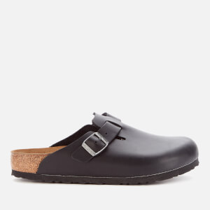 Birkenstock Men's Boston Oiled Leather Mules - Black