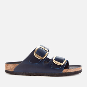 Birkenstock Women's Arizona Big Buckle Oiled Leather Double Strap Sandals - Blue