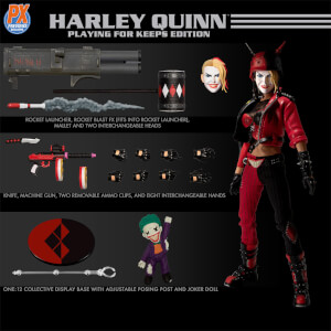 Mezco One: 12 Collective DC Comics Harley Quinn Playing for Keeps Edition - PX Exclusive