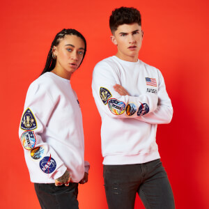 Sudadera NASA Mission - Unisex - Blanco