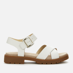 Clarks Women's Orinoco Strap Leather Sandals - White