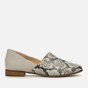 Clarks Women's Pure Tone Flat Shoes - Grey Snake