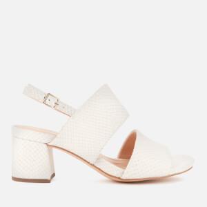 Clarks Women's Sheer55 Sling Block Heeled Sandals - White Snake