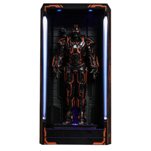 Hot Toys Iron Man 2 MMS Compact Series Diorama Neon Tech War Machine Hall of Armor 12cm