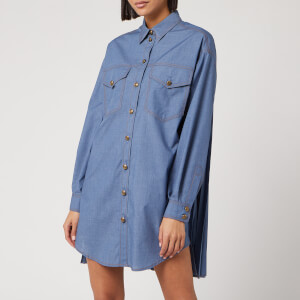 Philosophy di Lorenzo Serafini Women's Denim Shirt Dress - Blue