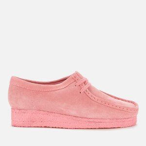 Clarks Originals Women's Wallabee Suede Shoes - Bright Pink