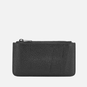 Maison Margiela Men's Zipped Credit Card Case - Black/Black