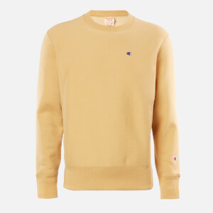 Champion Men's Logo Crew Neck Sweatshirt - Stone