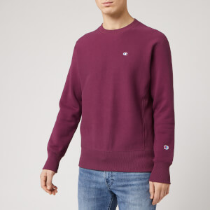 Champion Men's Logo Crew Neck Sweatshirt - Burgundy