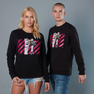 Sudadera Birds of Prey Harley Quinn Pink Stripes - Unisex - Negro