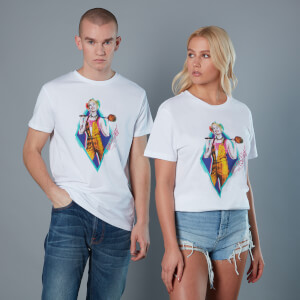 T-Shirt Harley Quinn and Wooden Mallet Birds of Prey - Bianco - Unisex