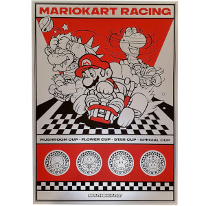 Zavvi Exclusive Mario Kart Screen Print
