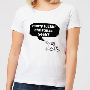 Modern Toss Merry Fuckin' Christmas Yeah? Women's T-Shirt - White