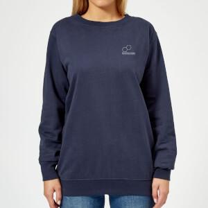 Blockbusters Pocket Print Women's Sweatshirt - Navy