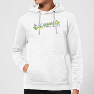 Blockbusters Pattern Logo Hoodie - White