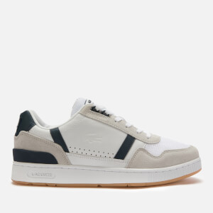 Lacoste Men's T-Clip 120 Leather/Suede Chunky Trainers - White/Navy