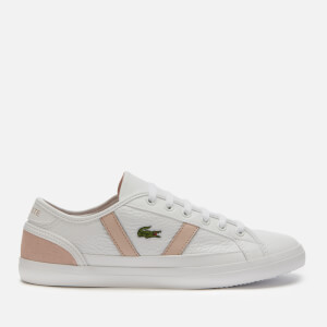 Lacoste Women's Sideline 120 Leather Low Top Trainers - White/Natural