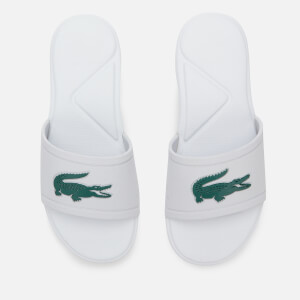 Lacoste Kids' L.30 Strap 120 Slide Sandals - White/Green